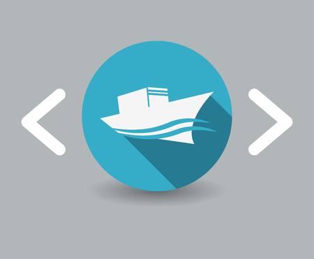 ship icon: nave icona Vettoriali