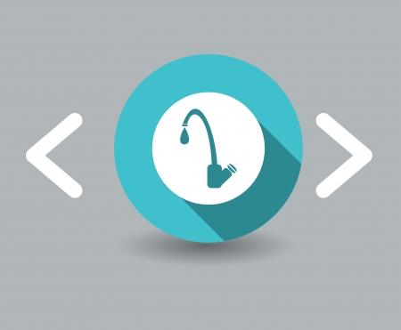economize: tap water icon Illustration