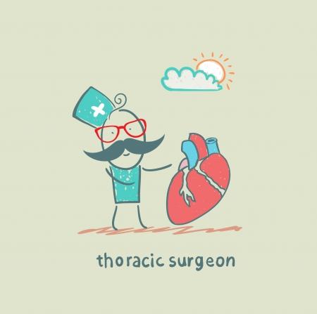klatki piersiowej: klatki piersiowej lekarz z sercem