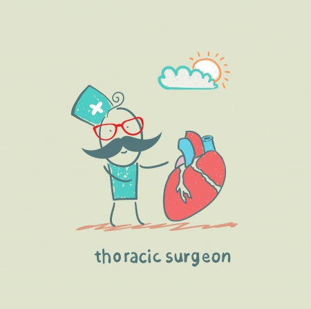 surgical: thoracic surgeon with a heart