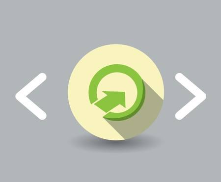 satin round: up Arrow icon Illustration