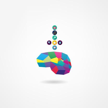 mente humana: Icono del cerebro