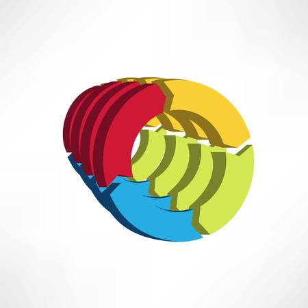 circular arrows icon Vector