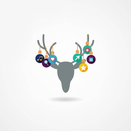 tete de cerf: Deer Head isol� Illustration