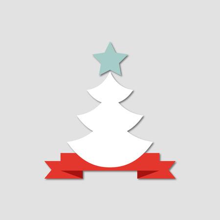 Creative paper Christmas tree