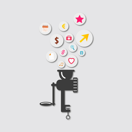 molinillo: Picadora icono