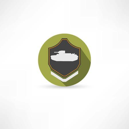 wartime: tank icon Illustration