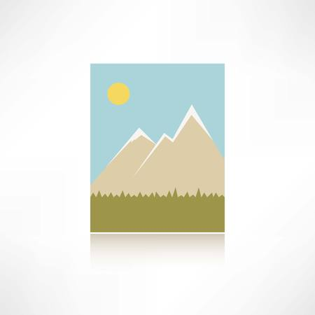 capped: mountains icon Illustration
