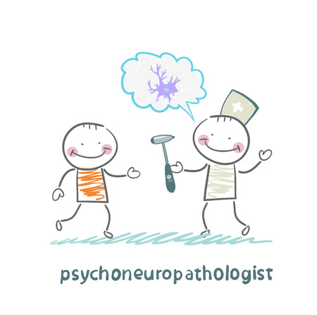 nerve cells: psychoneuropathologist  speaks with the patient about the nerve cells