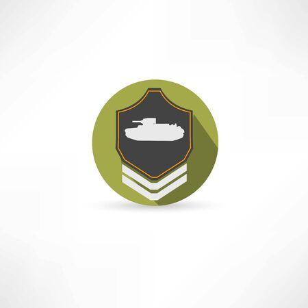 hostility: tank icon Illustration