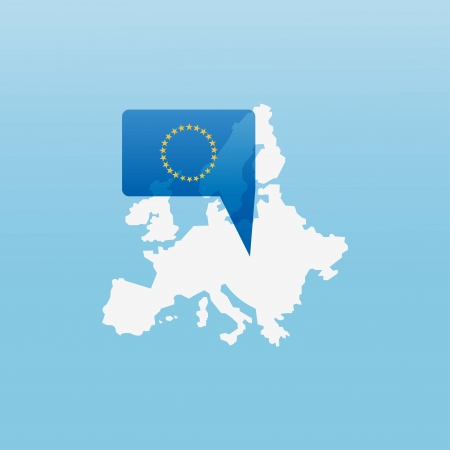 european union currency: Europe icon Illustration