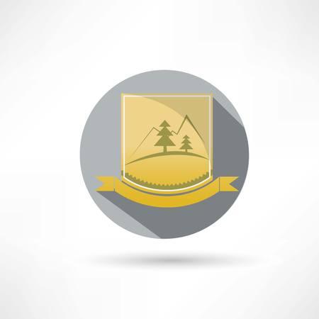 mountaintop: mountains icon Illustration