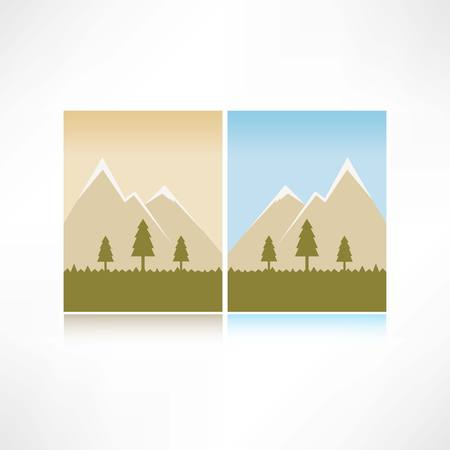 mountains icon 일러스트
