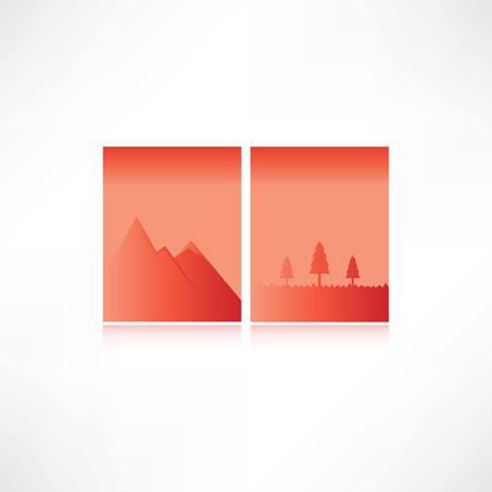 mountains icon  イラスト・ベクター素材