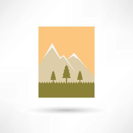 mountains icon 向量圖像