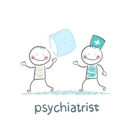 psychiatrist: Psychiatrist catches patient with a pillow