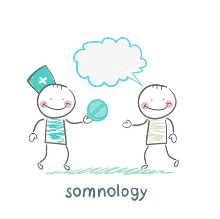 somnology  gives the patient  pill