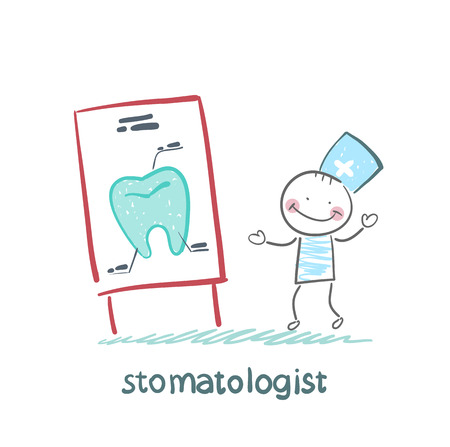 medical equipment: stomatologist says a presentation on the tooth