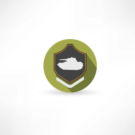 wartime: tank icon Illustration