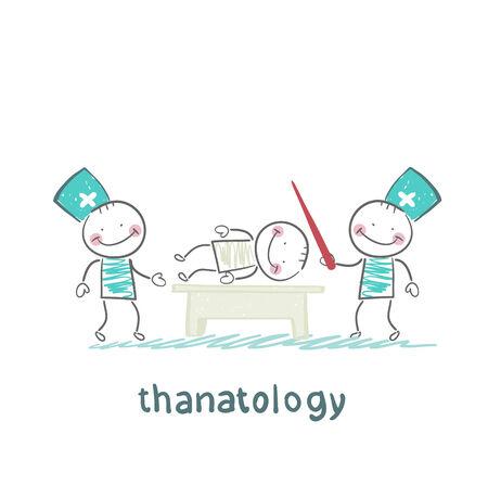 thanatology  studies the dead man