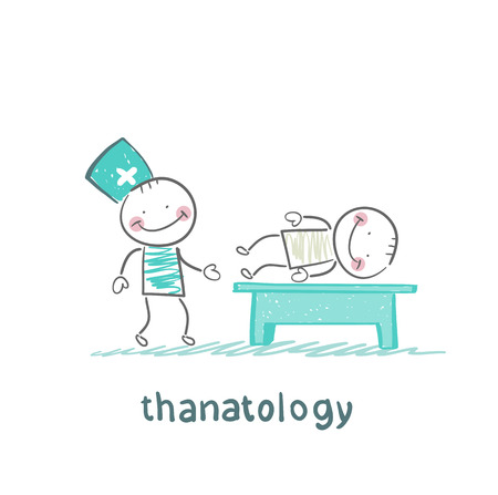 physical therapy: thanatology  studies the dead man