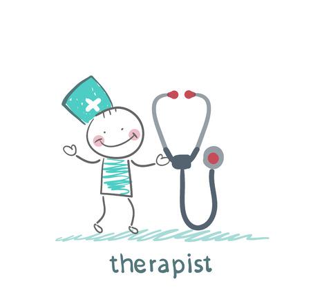 therapist: therapist with tetoskopom