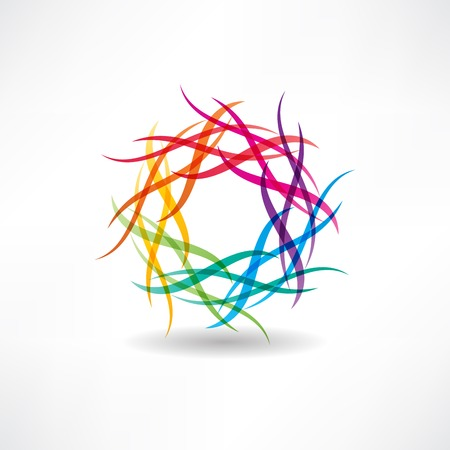 abstract multicolored circles icon  イラスト・ベクター素材