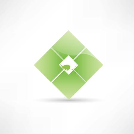 distilled: Abstract eco leaf icon