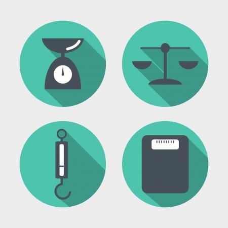 balanza en equilibrio: Balance de los iconos Vectores