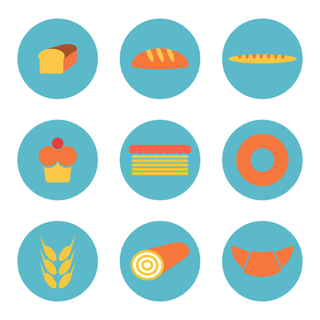 swiss roll: Bread icons
