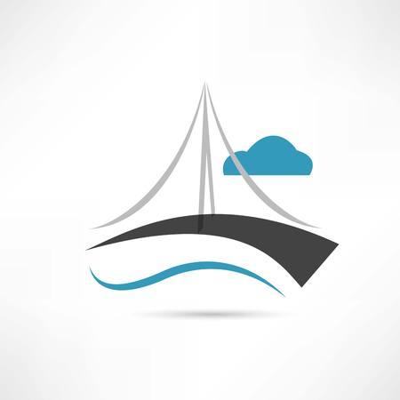 puente: gran icono puente vector Vectores