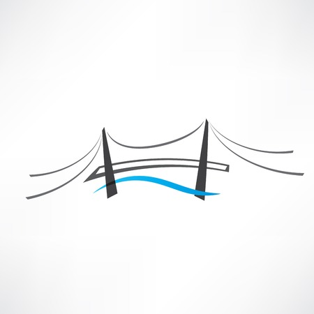 abstract road bridge icon Ilustracja