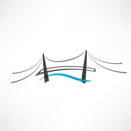 abstracto icono puente de carretera Ilustración de vector