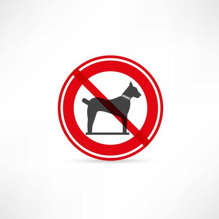 no entry sign: dogs are prohibited icon Illustration