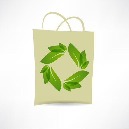 creative eco bag icon