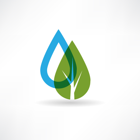drop on eco tree abstraction icon