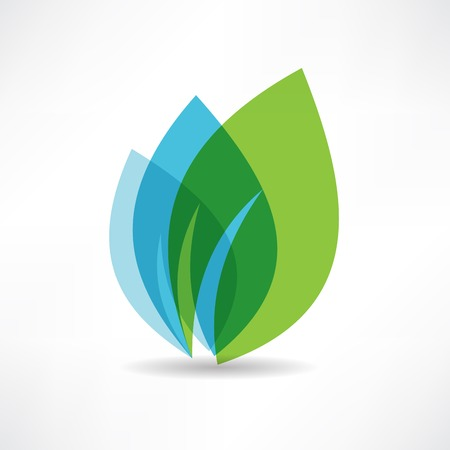 environmental concept: environmental leaves icon