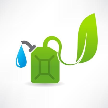 plastik: eco fuel abstraction icon