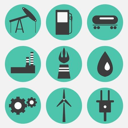 Los iconos de la energía Foto de archivo - 24583978