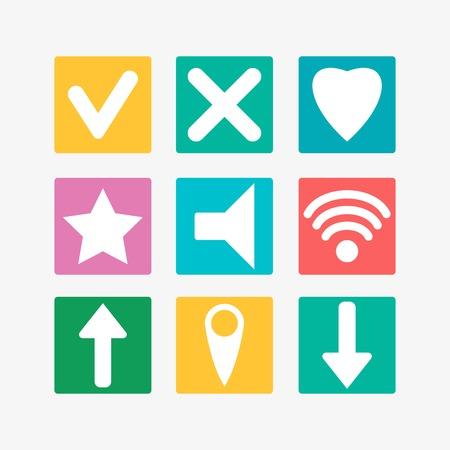 adress: Flat icons Illustration
