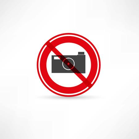 forbidden to take pictures icon Vector