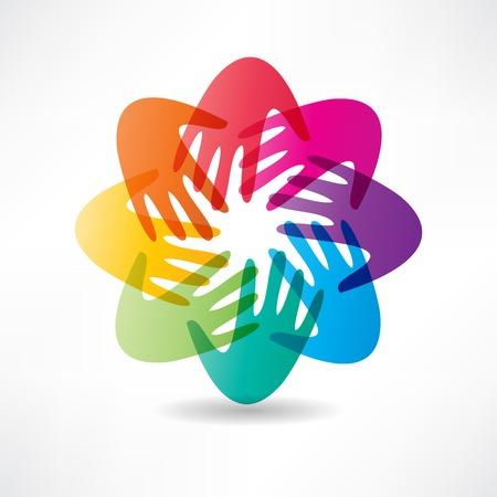 help: handshake and friendship icon Illustration