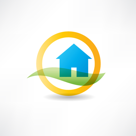 eco house abstraction icon Vector