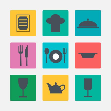 Kitchen icons Stock Vector - 24584113