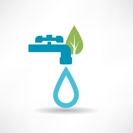 Save the environment and water icon Vector
