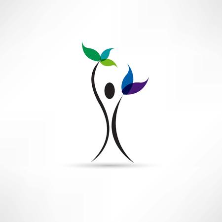 cares: people and plant icon