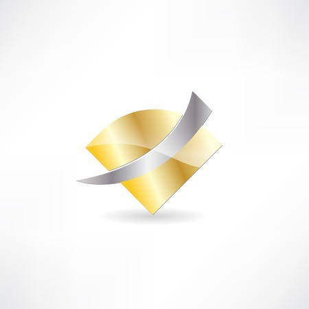 gold metal abstraction icon Stock Vector - 24584139