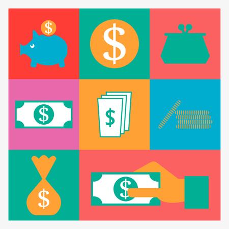 burning paper: money icons