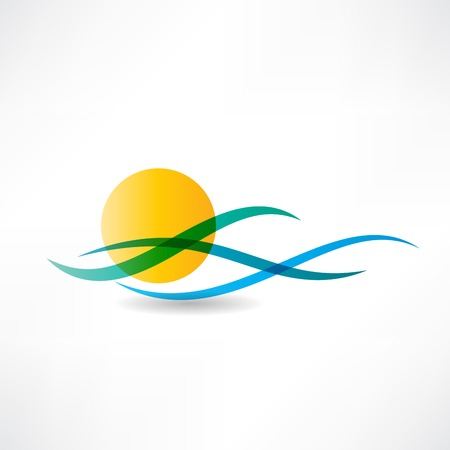 abstractly: sun sea abstractly icon