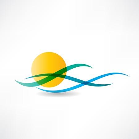 sun: sun sea abstractly icon